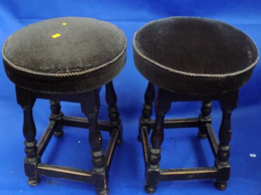 Two vintage pub stools
