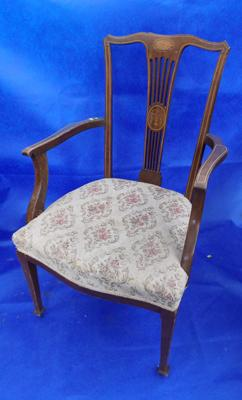 Edwardian inlaid chair