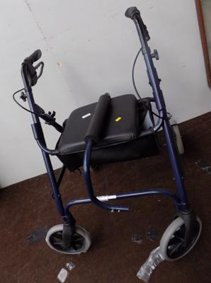 Four wheeled walking frame - as new
