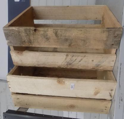 2 rustic shop display crates