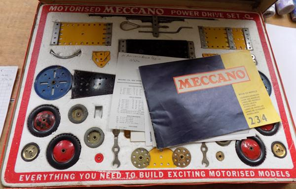 Meccano power driver boxed set & motor