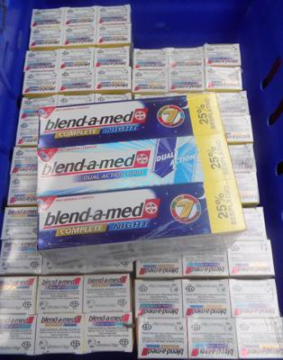 Full tray of Blend-a-Med toothpaste