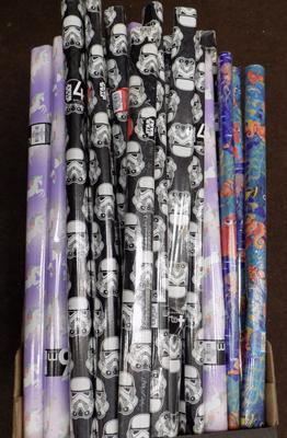 Selection of kids wrapping paper