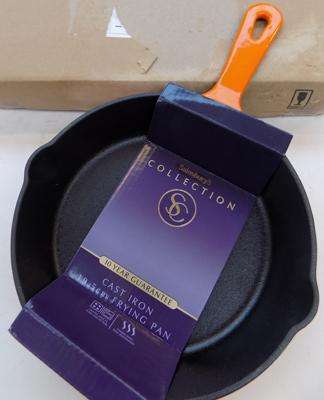 Small new cast iron frying pan