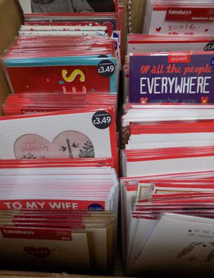 Box of quality Valentine cards