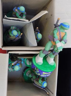 7x Turtles figures bath gel
