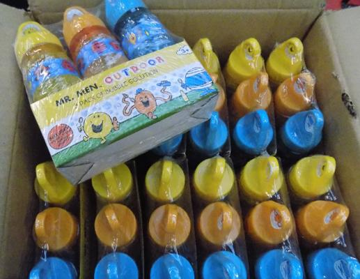 Box of Mr Men bubble sets