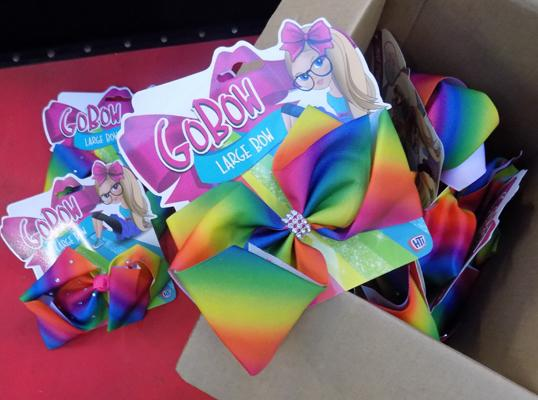 12x Large girls hair bows