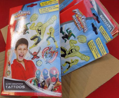 24x Power Rangers tattoo sets