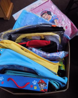 Box of kids new bags & toys