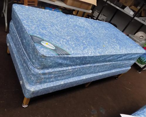 Single waterproof bed & mattress with spare mattress