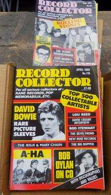 Small box of record collectors magazines