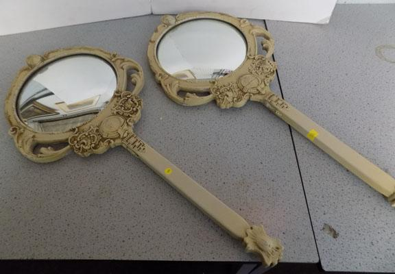 "Two small unusual mirrors - 23"" long"