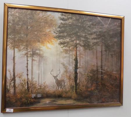"Picture-Quiet Forest by Coulson 29""x23"""