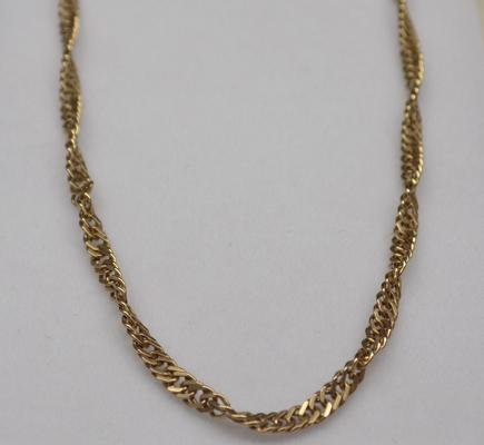 9ct gold chain 'Prince of Wales' twist
