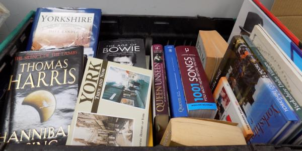 Box of books inc Yorkshire, Bowie & Quinn