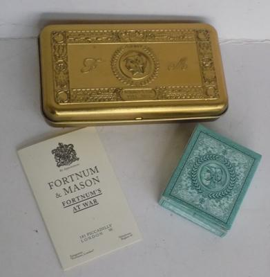 Fortnum & Mason 'Tommy's Tin' with cards & leaflet