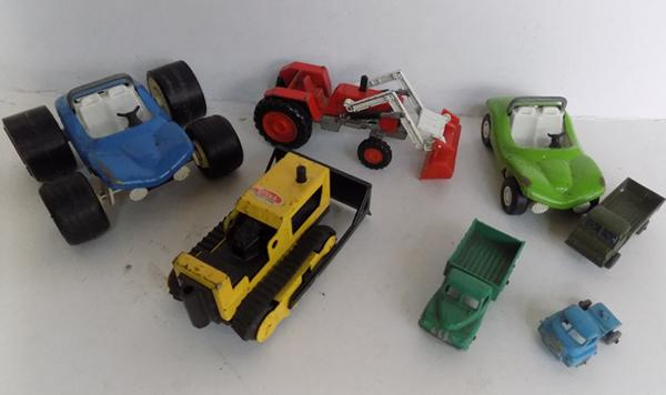 Selection of die cast vehicles, incl. Tonka