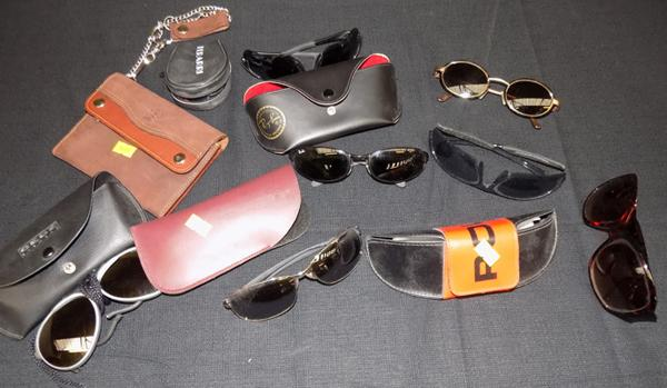 Mixed collection of sunglasses