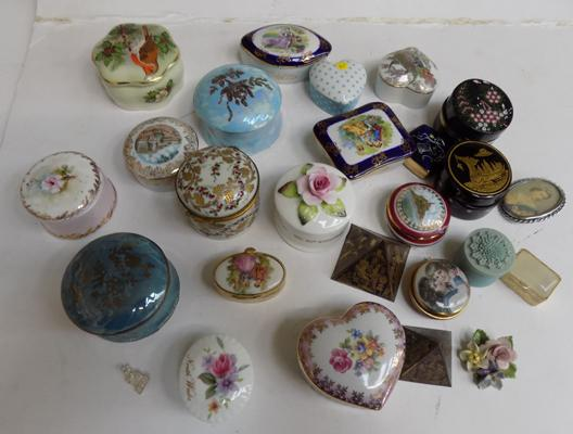 Collection of 23 China trinket boxes - various makers
