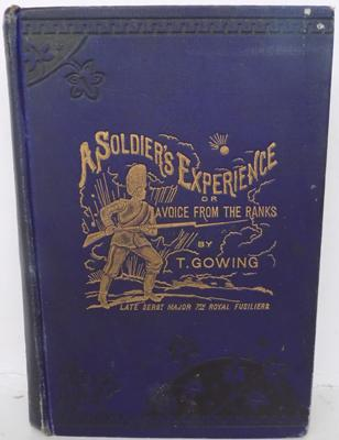 A Soldiers experience book-rare gilt edge