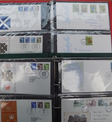 2x well filled albums of first day covers inc regionals & high values