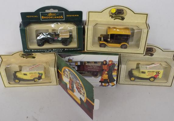 6x Vintage boxed cars