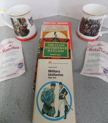 Two great battles of British army tankards + new military books