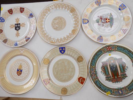 Spode set of 6 Cathedral plates-Ripon, Lincoln, Selby Abbey, Tewkesbury, Canterbury, Winchester