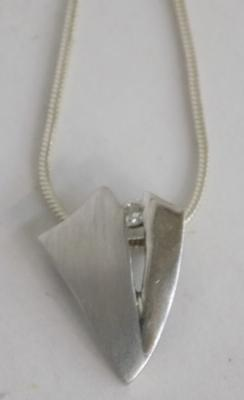 925 shield style pendant on 925 silver chain