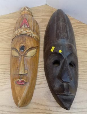 Two tribal masks