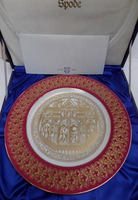 Spode St Thomas Beckett designers copy boxed No7 certificate signed by Dean of Canterbury
