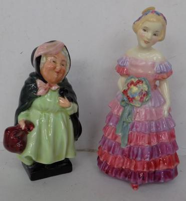 2x Royal Doulton figures early HN1433 & Dickens