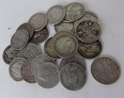 23x Silver threepence collection