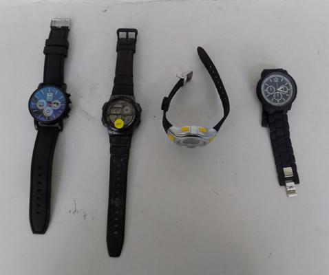 Four men's watches - all working