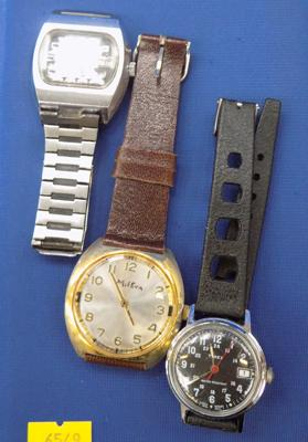 3 gents watches incl. Timex