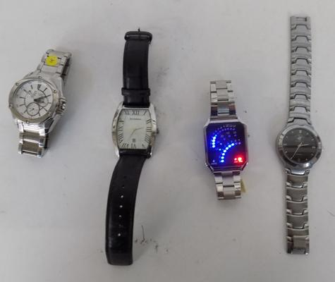 Four men's watches & all working