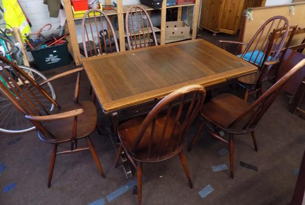 Ercol extending table & six chairs