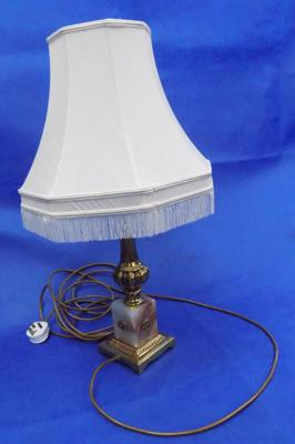Brass & marble lamp