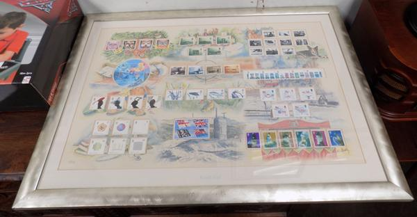 Limited Edition Royal Mail framed stamp collection, cost £289, over £50 worth of stamps