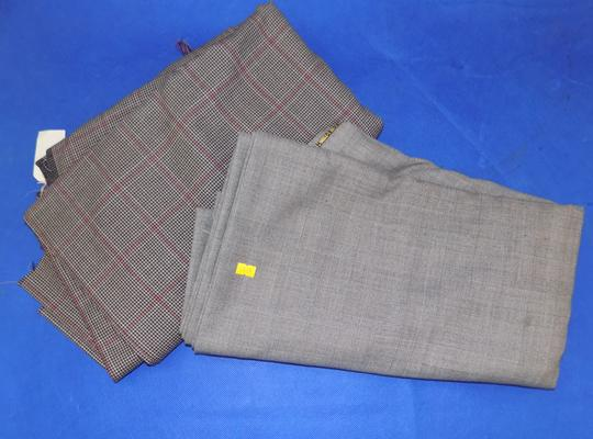 2 lengths suiting material - checked
