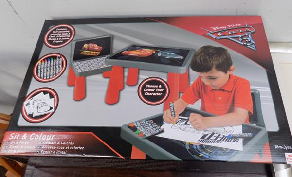 Brand new Disney Cars table & chair colouring set