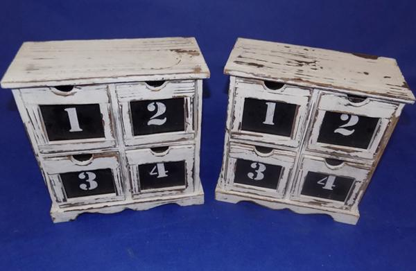 Two calendars with drawers