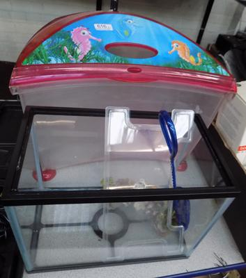 Two small fish tanks & accessories