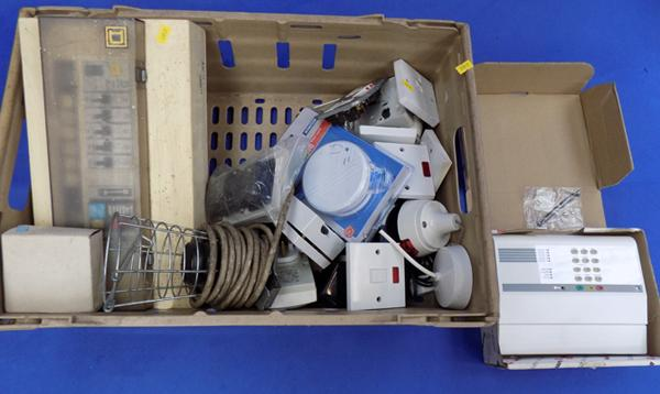 Box of mixed electric items
