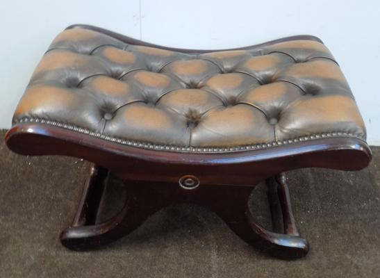Chesterfield style stool