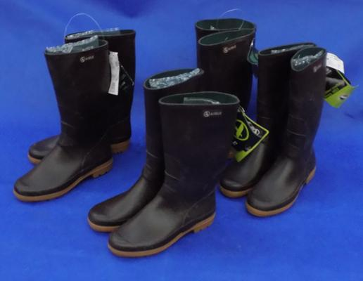 Four pairs of new wellington boots