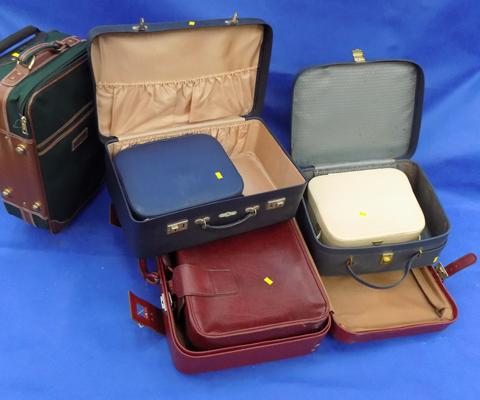 Job lot of suitcases
