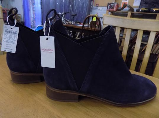 Brand new Monsoon blue suede boots (RRP £65)