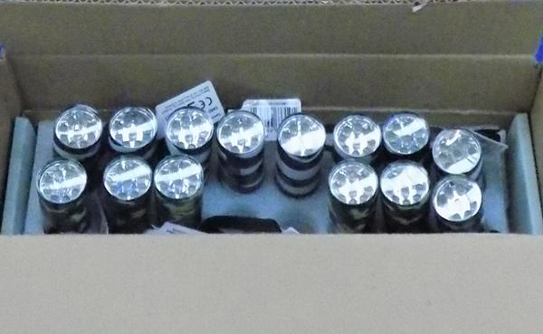 Four boxes of mini torches